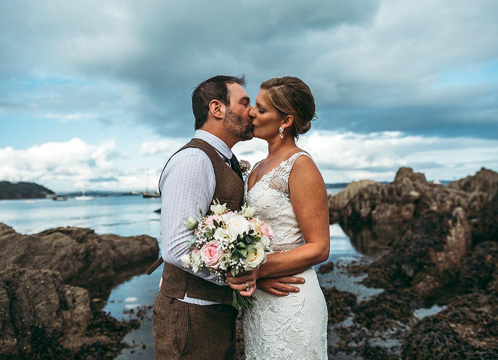 A coastal fort wedding at Whitsand Bay - Image 48