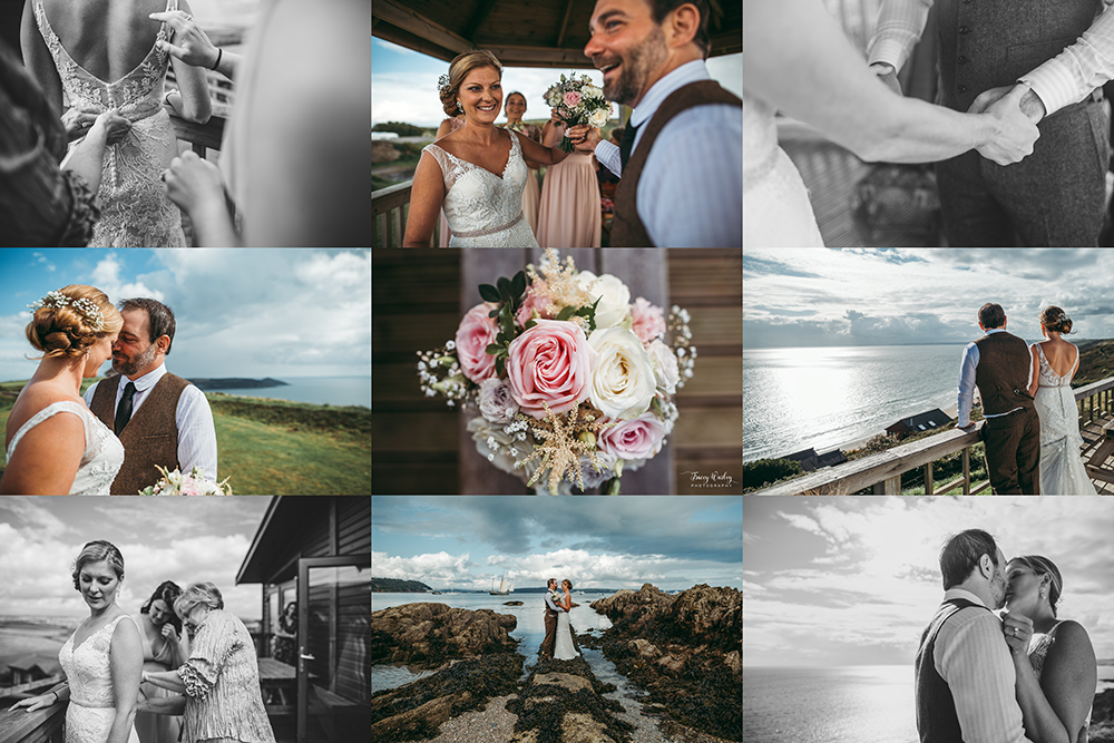 A coastal fort wedding at Whitsand Bay - Image 49