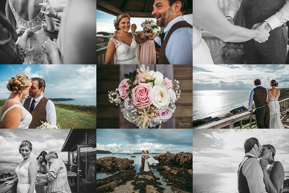A coastal fort wedding at Whitsand Bay - Image 49