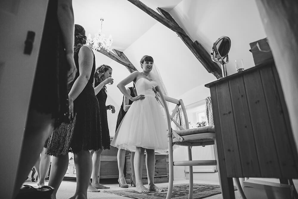 A flamingo farm wedding in Cornwall - Image 11