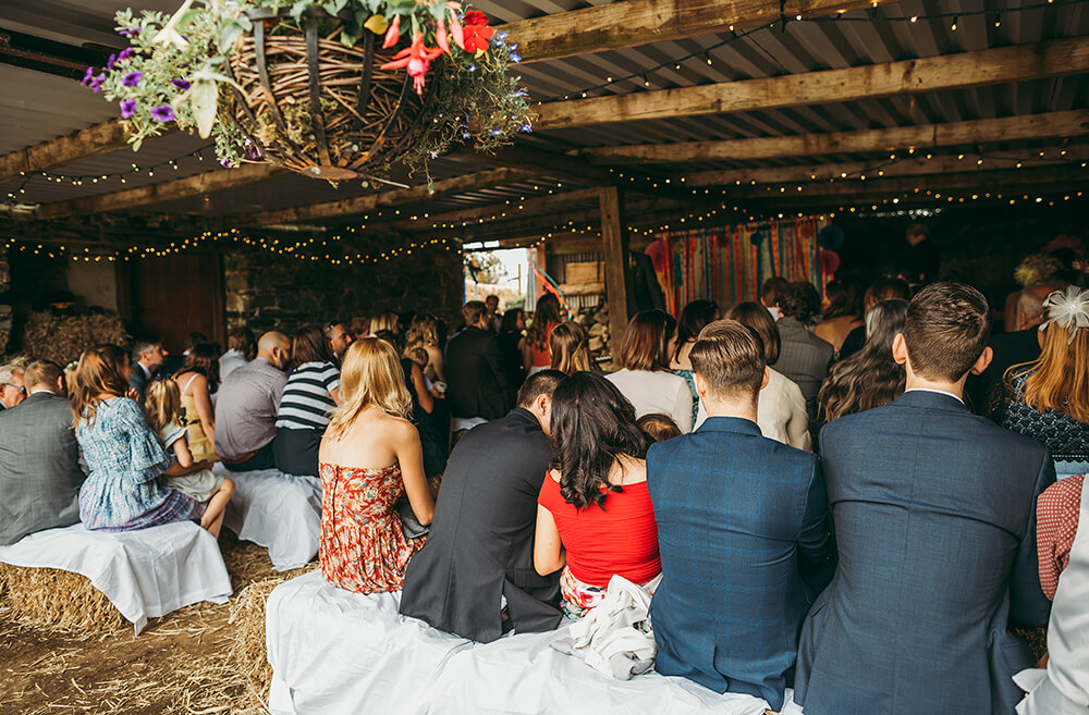 A flamingo farm wedding in Cornwall - Image 19