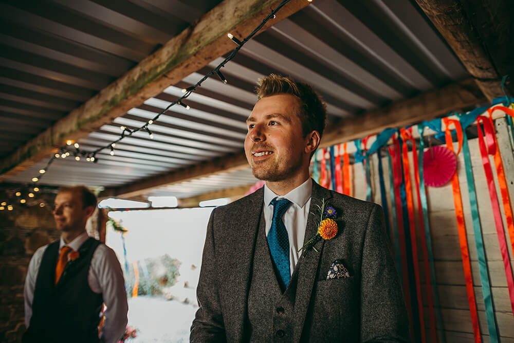 A flamingo farm wedding in Cornwall - Image 21