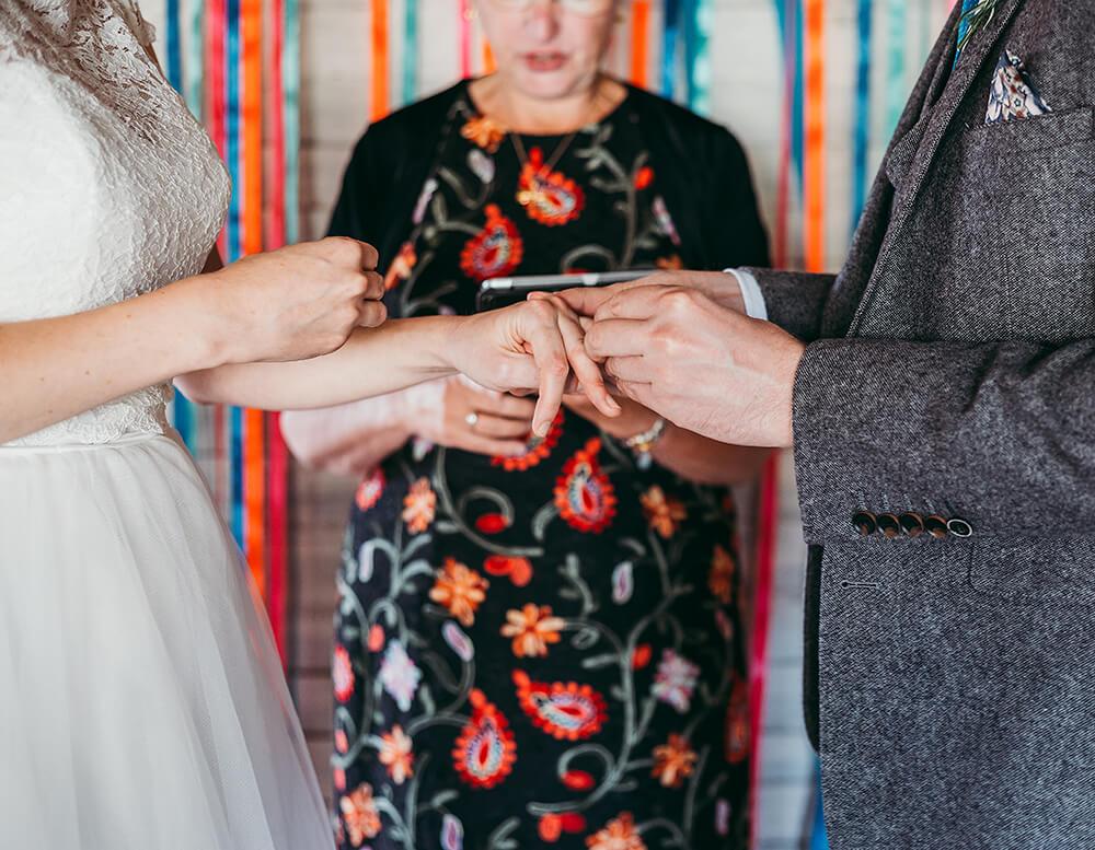A flamingo farm wedding in Cornwall - Image 24