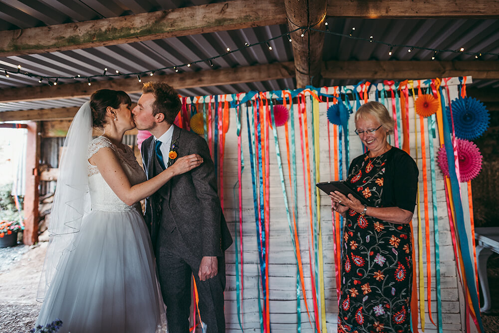 A flamingo farm wedding in Cornwall - Image 28