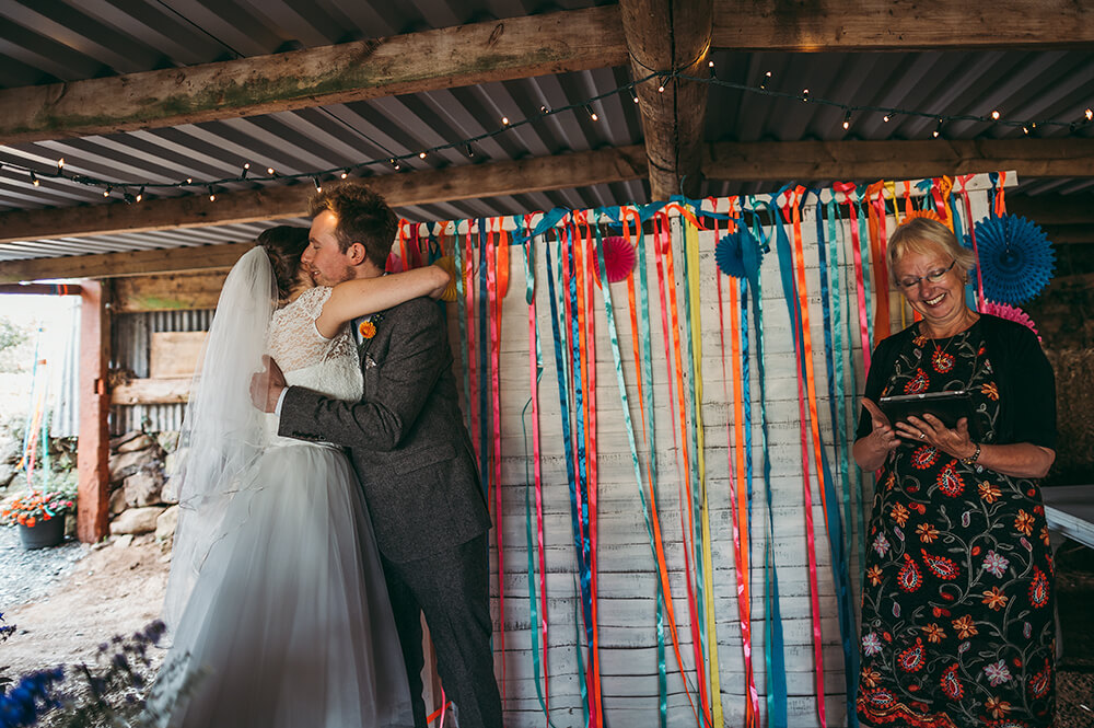 A flamingo farm wedding in Cornwall - Image 29
