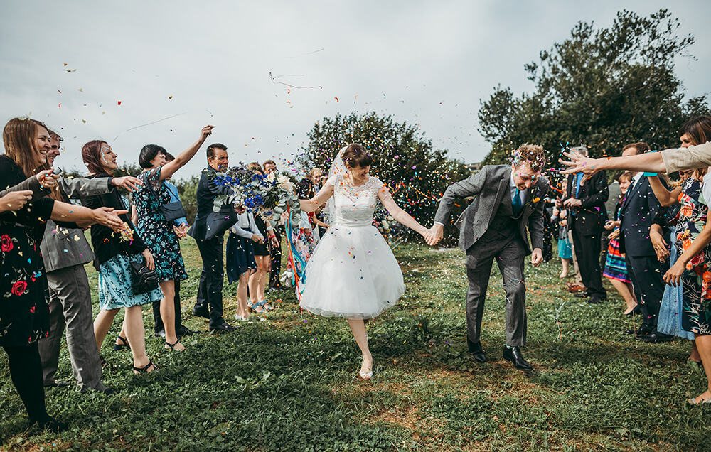 A flamingo farm wedding in Cornwall - Image 31