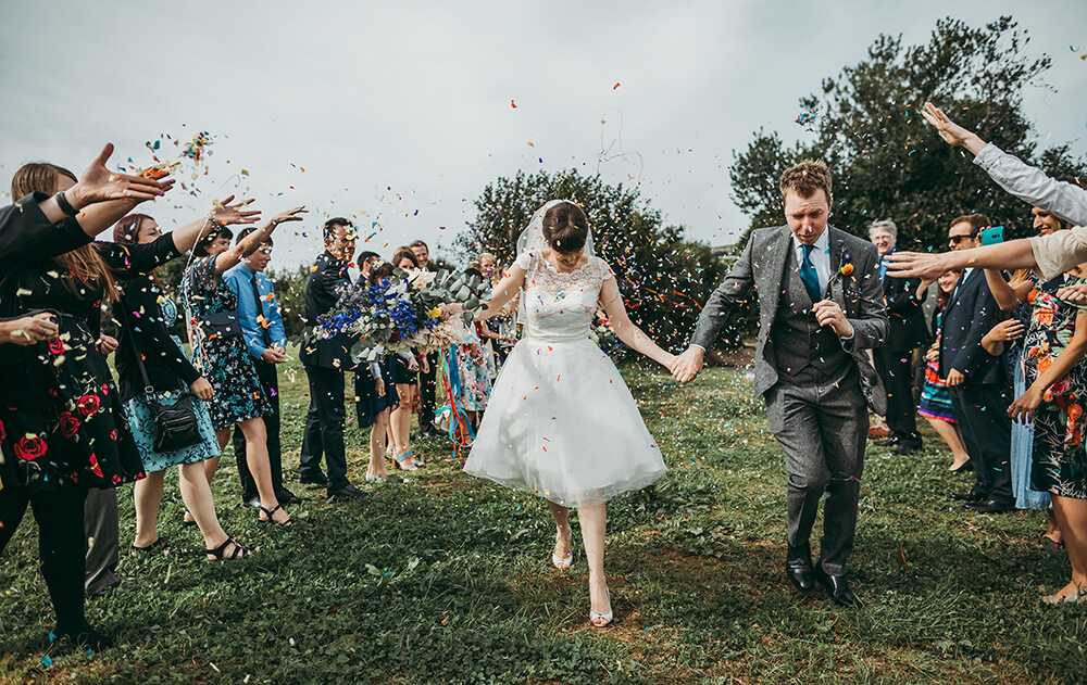 A flamingo farm wedding in Cornwall - Image 32