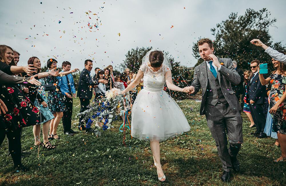 A flamingo farm wedding in Cornwall - Image 33