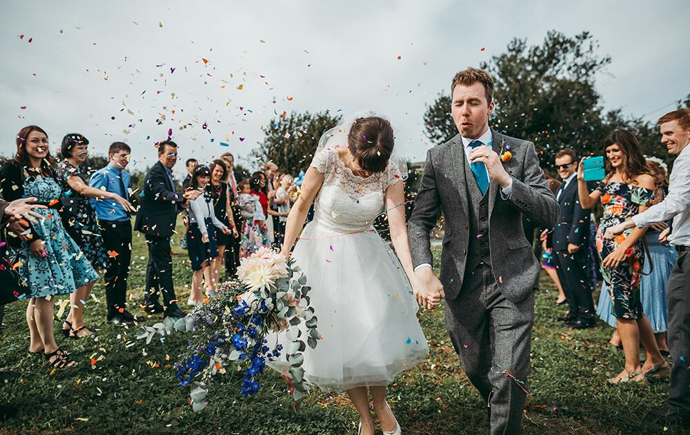 A flamingo farm wedding in Cornwall - Image 34