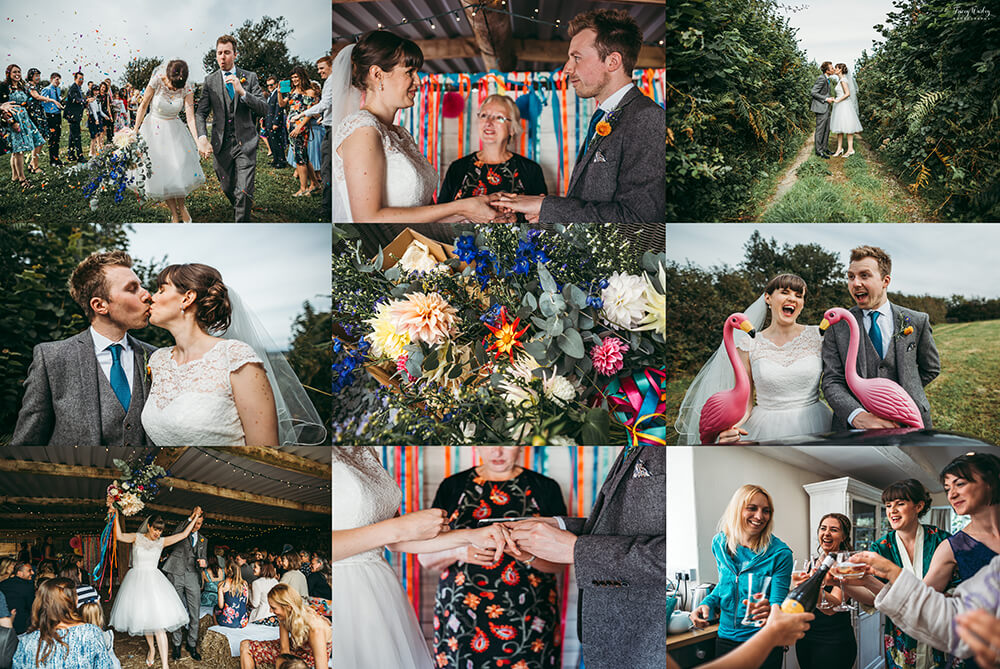 A flamingo farm wedding in Cornwall - Image 53