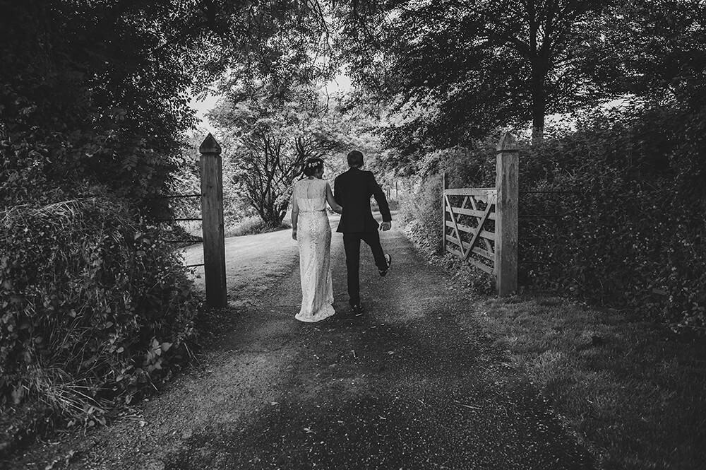 bride and groom portrait at Pengenna Manor wedding venue Wadebridge