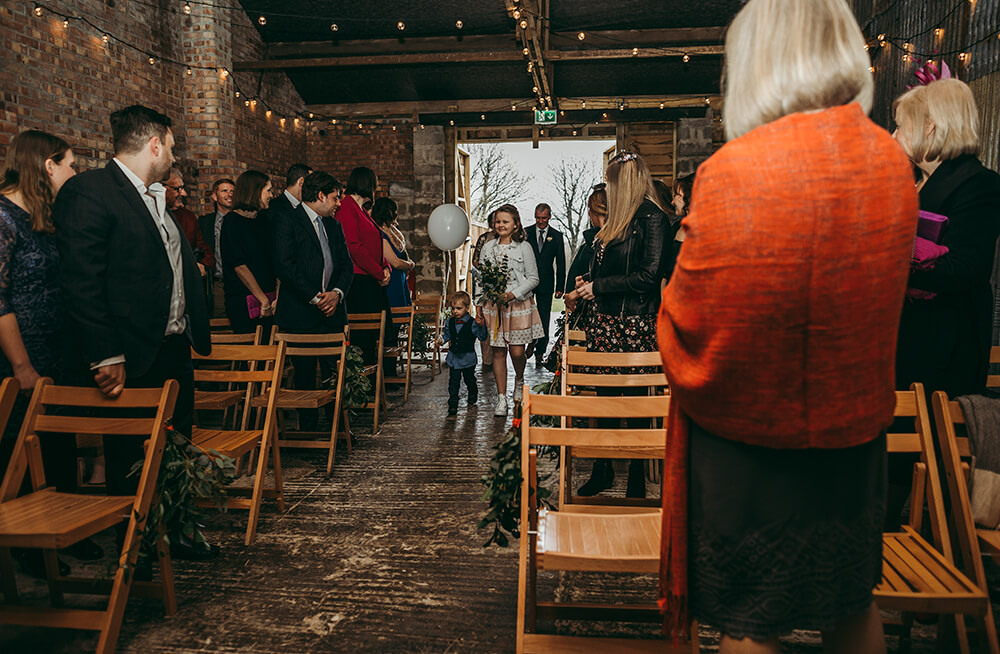 Sarah and Paul's rustic winter wedding at The Green in Cornwall - Image 12
