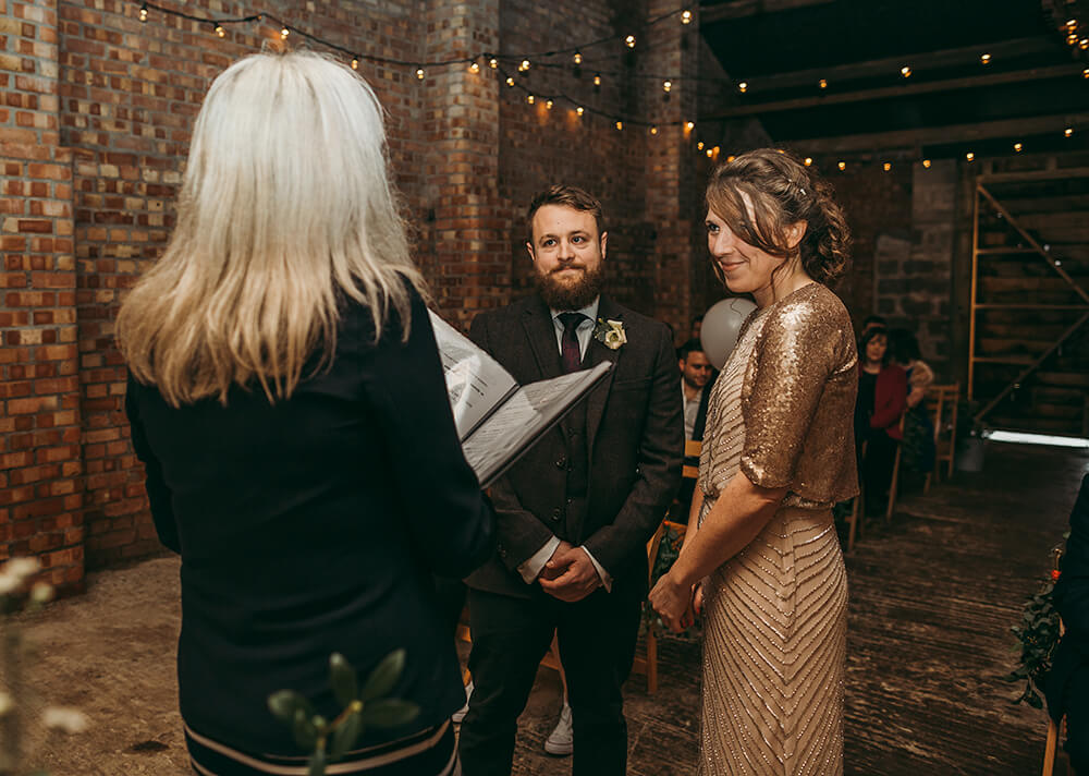 Sarah and Paul's rustic winter wedding at The Green in Cornwall - Image 14