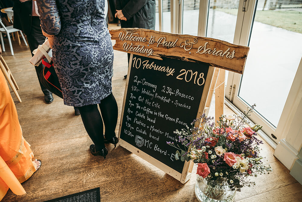 Sarah and Paul's rustic winter wedding at The Green in Cornwall - Image 19