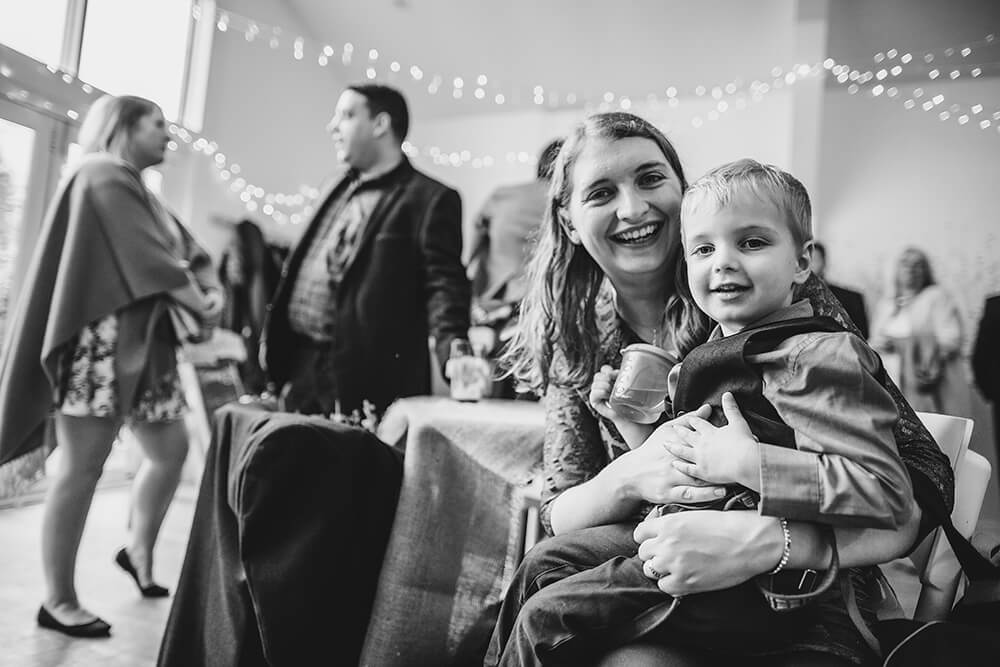 Sarah and Paul's rustic winter wedding at The Green in Cornwall - Image 22