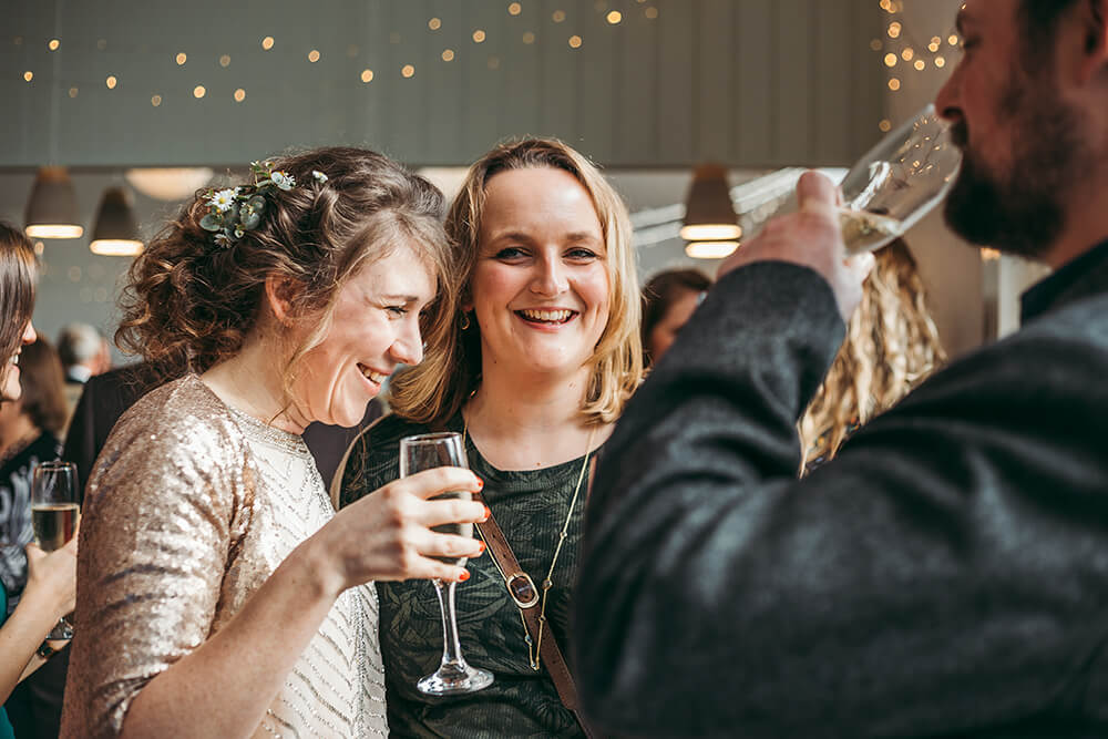 Sarah and Paul's rustic winter wedding at The Green in Cornwall - Image 26
