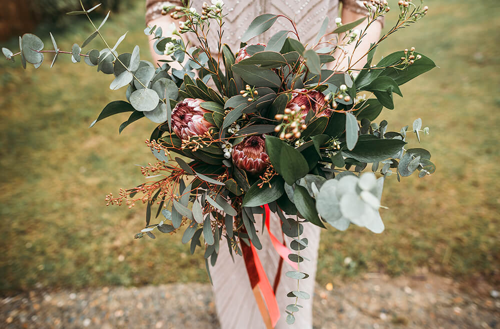 Sarah and Paul's rustic winter wedding at The Green in Cornwall - Image 32