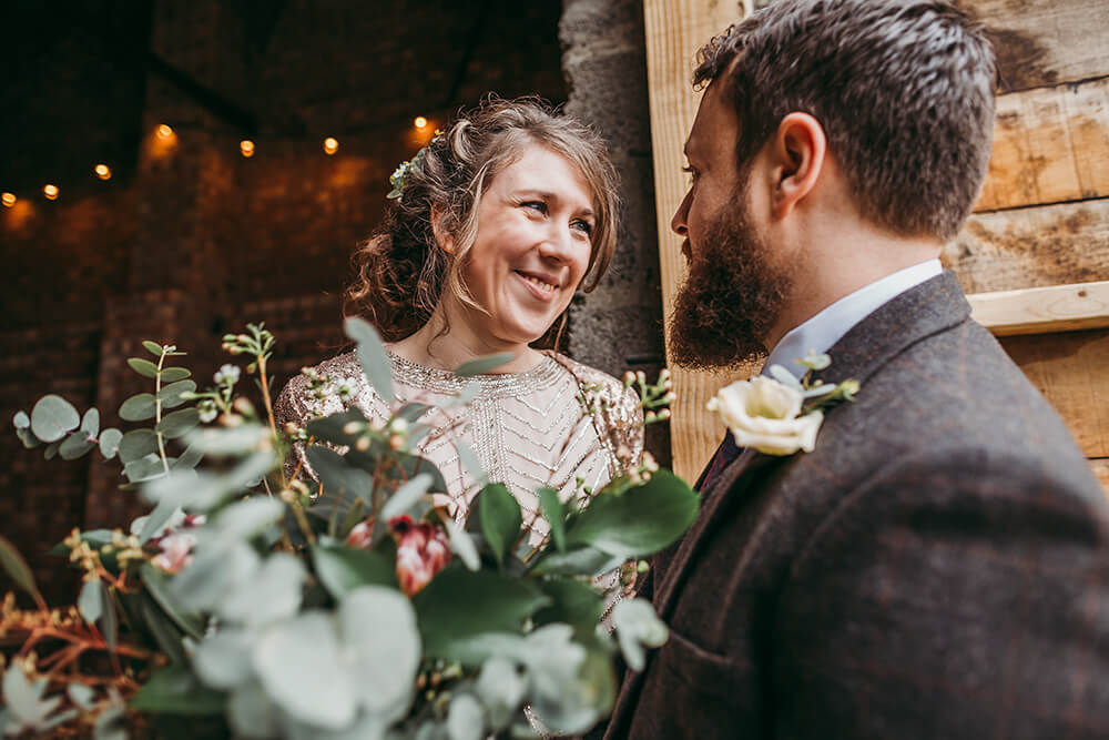 Sarah and Paul's rustic winter wedding at The Green in Cornwall - Image 35