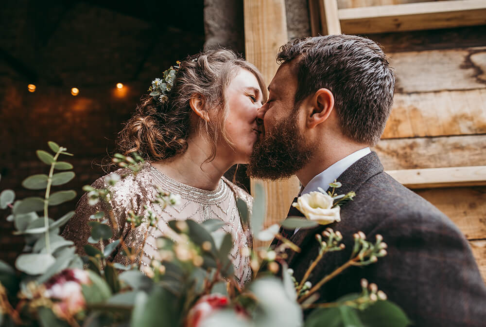 Sarah and Paul's rustic winter wedding at The Green in Cornwall - Image 36