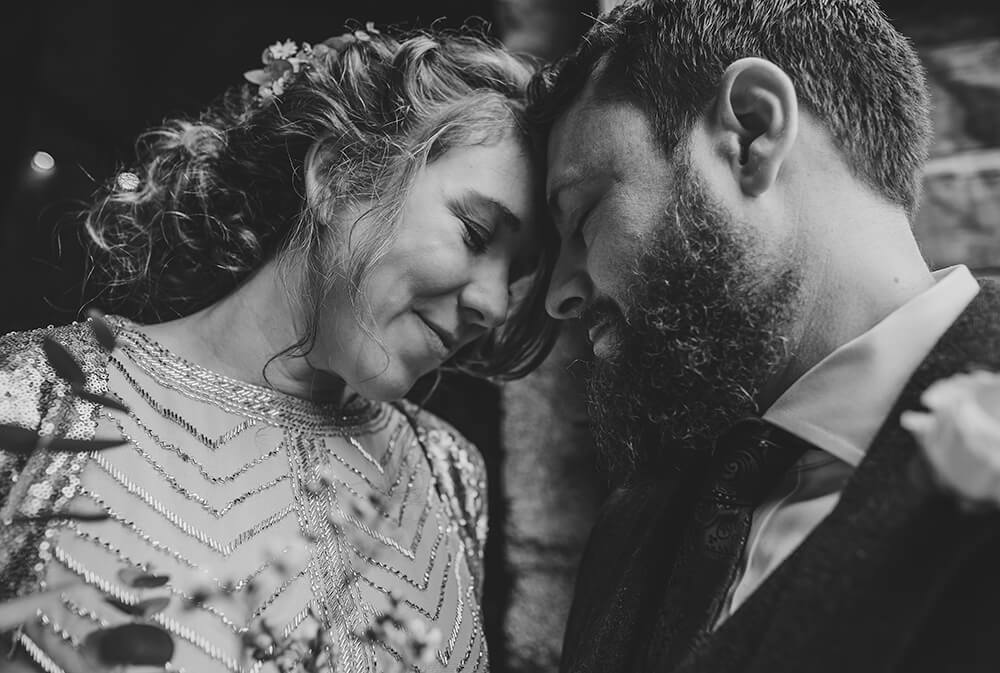 Sarah and Paul's rustic winter wedding at The Green in Cornwall - Image 37