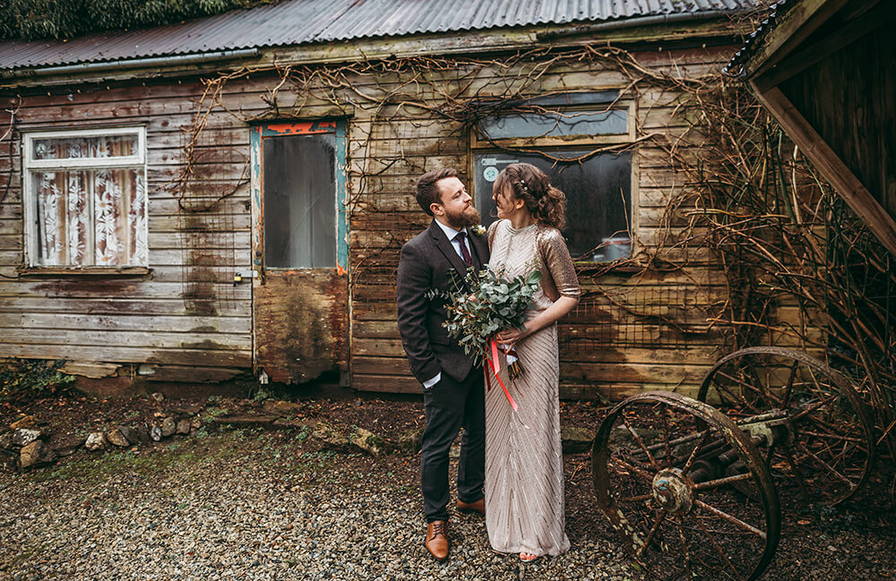 Sarah and Paul's rustic winter wedding at The Green in Cornwall - Image 38