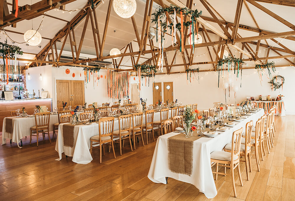 Sarah and Paul's rustic winter wedding at The Green in Cornwall - Image 39