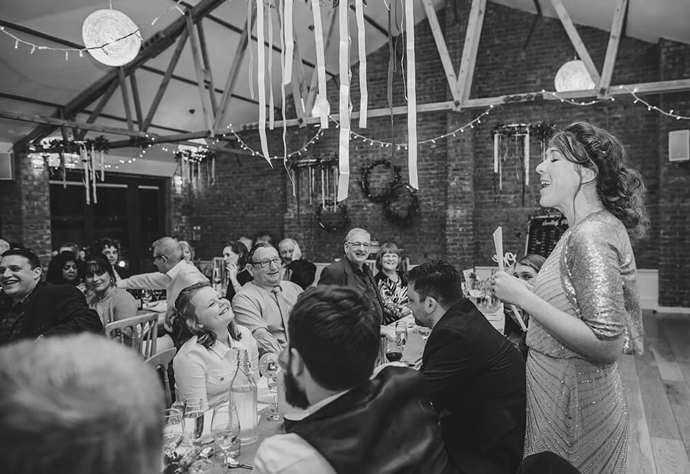 Sarah and Paul's rustic winter wedding at The Green in Cornwall - Image 45