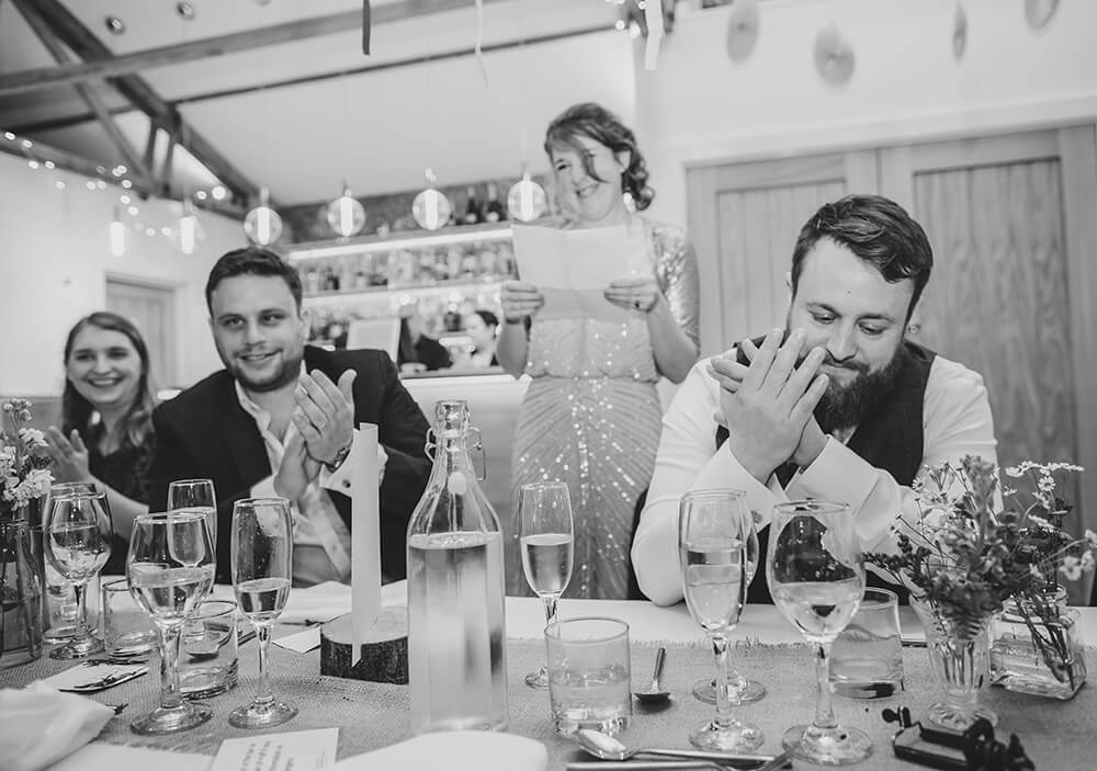 Sarah and Paul's rustic winter wedding at The Green in Cornwall - Image 46