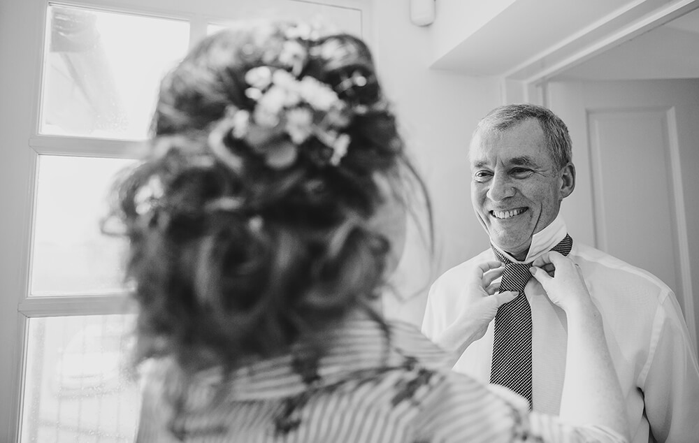 Sarah and Paul's rustic winter wedding at The Green in Cornwall - Image 5