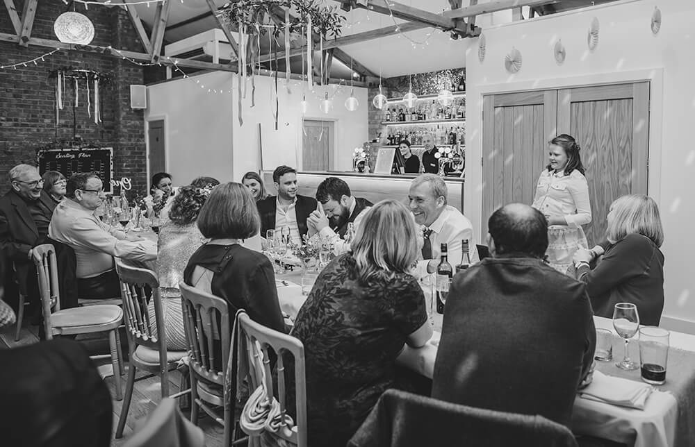 Sarah and Paul's rustic winter wedding at The Green in Cornwall - Image 50