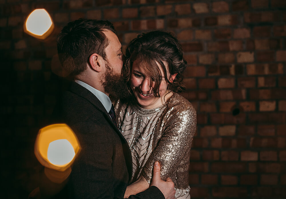 Sarah and Paul's rustic winter wedding at The Green in Cornwall - Image 52