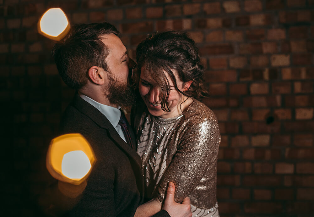 Sarah and Paul's rustic winter wedding at The Green in Cornwall - Image 53