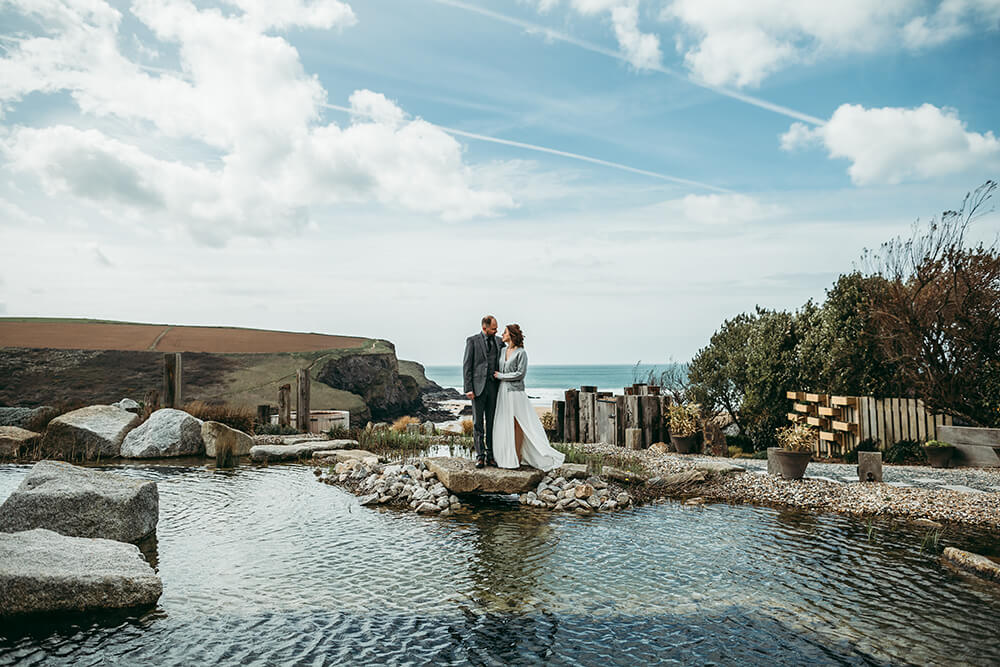The Scarlet Hotel Cornwall spring wedding