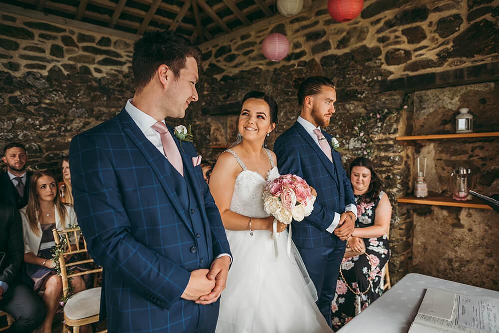 the old coast guards look out wedding venue caerhays in gorran cornwall