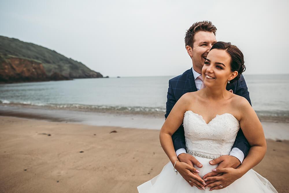 porthluney beach caerhays estate gorran cornwall wedding photography