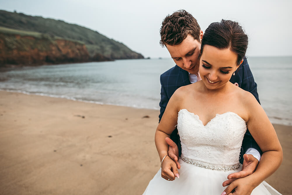 porthluney beach caerhays estate gorran cornwall wedding photography