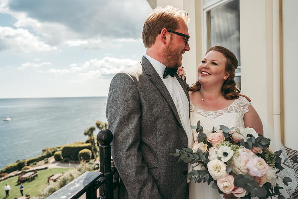 fowey harbour wedding photography