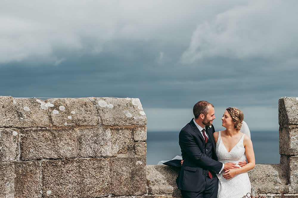 pendennis castle weddings in cornwall