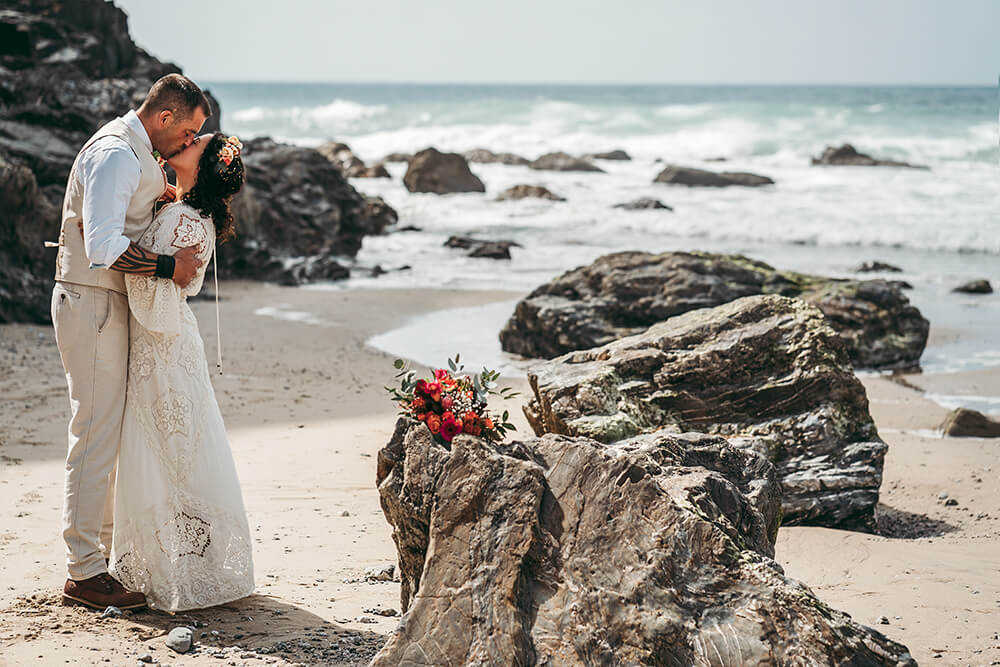porthtowan beach wedding