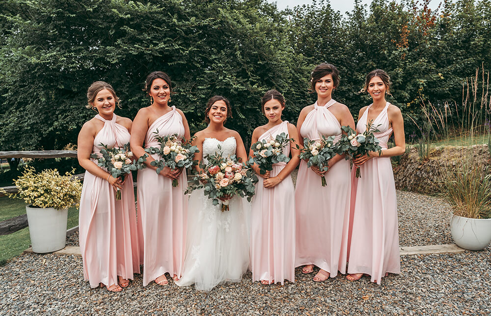 kilminorth cottages bridesmaids group shot