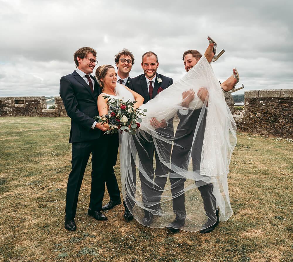 Pendennis Castle fun group shot
