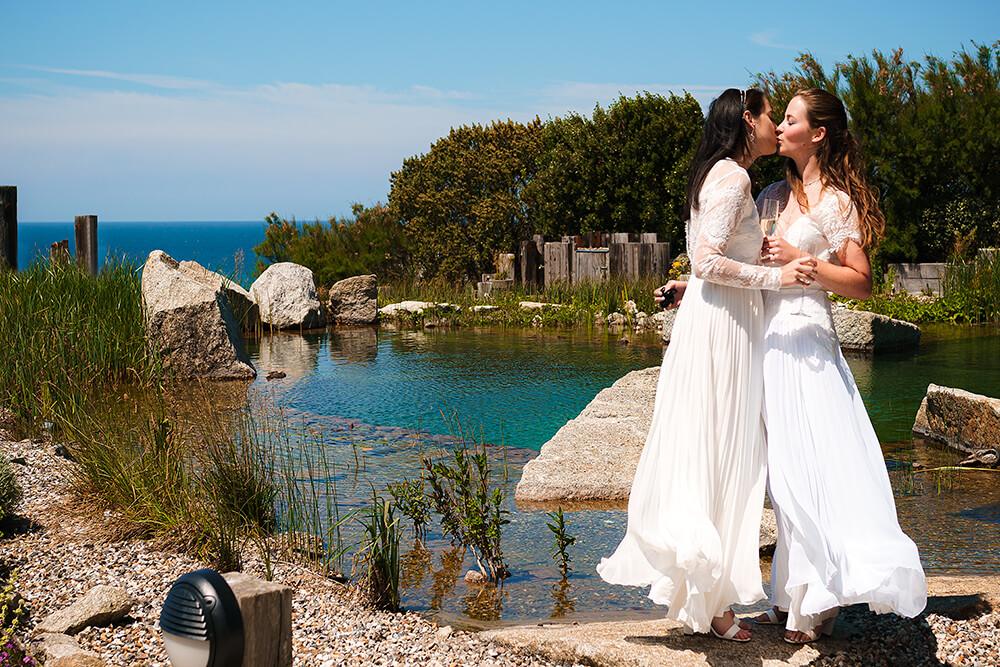 elopement beach wedding cornwall 25