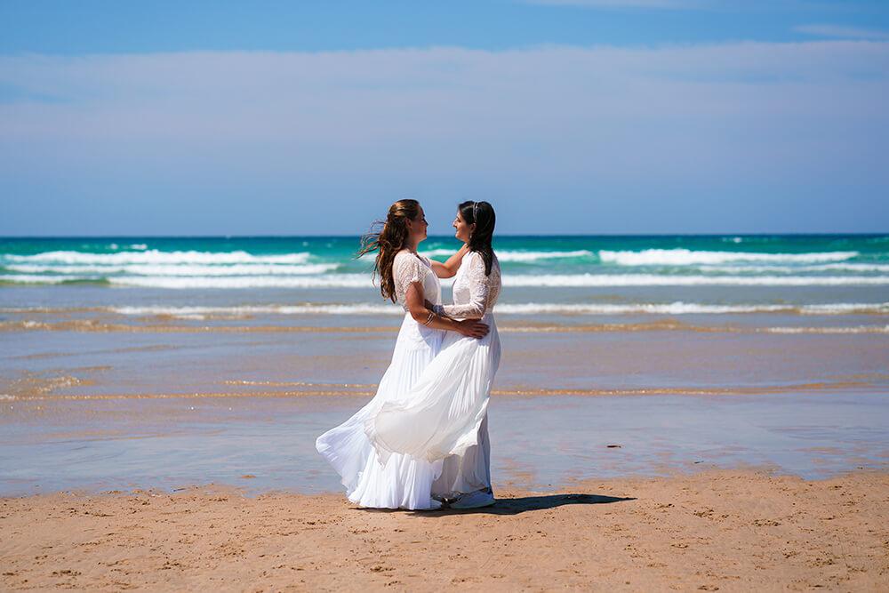 elopement beach wedding cornwall 27